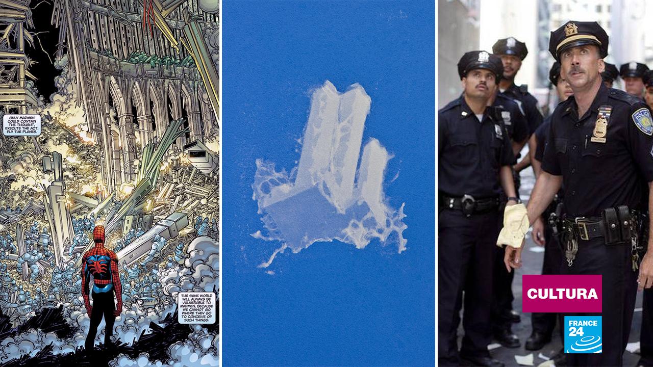 En forma de viñeta, de nube en el cielo y como fotograma de película, las artes no han dejado de recrear los atentados del 11 de septiembre de 2001.