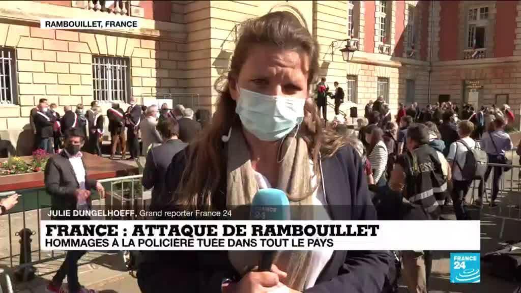 2021-04-26 17:09 Hommage à la policière tuée à Rambouillet : émotion et recueillement