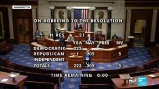 2021-01-13 15:01 Destitution de Donald Trump : vote de mise en accusation à la chambre des représentants