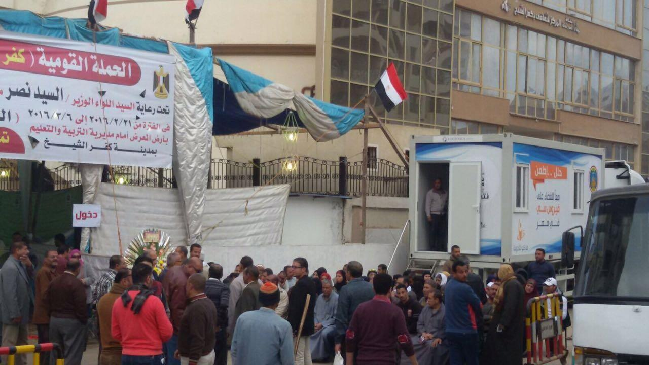 A mobile clinic in Egypt used to increase access to hepatitis C testing.