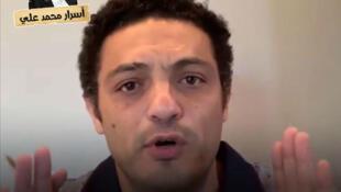 صورة من موقع يوتيوب لمحمد علي وهو يدعو المصريين للتظاهر ضد الرئيس السيسي.