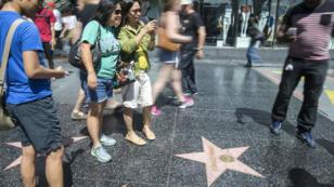 L'étoile de Donald Trump, sur Hollywood boulevard, quand elle n'est pas détériorée.