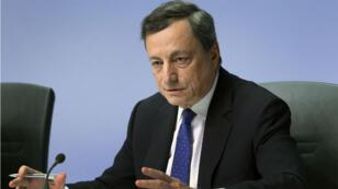 Mario Draghi, le patron de la Banque centrale européenne, a décider de conserver son principal taux directeur à 0 %.
