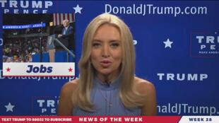 Ancienne de CNN, Kayleigh McEnnany anime désormais une émission diffusée sur la page Facebook de Donald Trump.