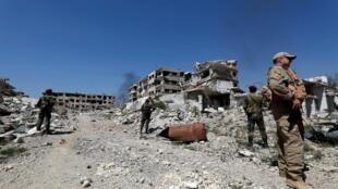 Zonas de Guta Oriental como la de Jobar quedaron completamente arrasadas.