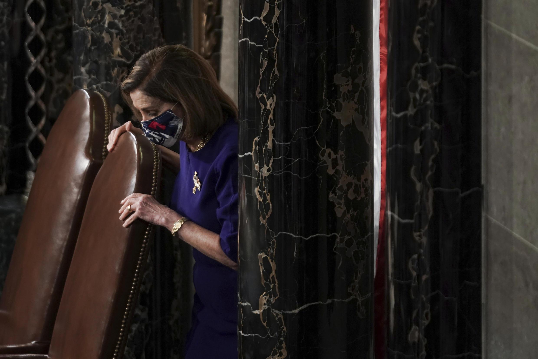 La présidente de la Chambre des représentants, la démocrate Nancy Pelosi.