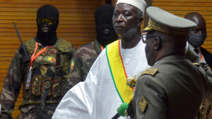The new interim president of Mali Bah Ndaw is sworn in during the Inauguration ceremony in Bamako, Mali, on September 25, 2020.