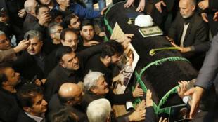 نعش الرئيس الإيراني الأسبق أكبر هاشمي رفسنجاني