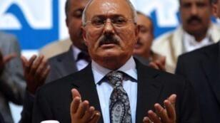 الرئيس اليمني السابق علي عبد الله صالح في صنعاء في أيلول/سبتمبر 2012