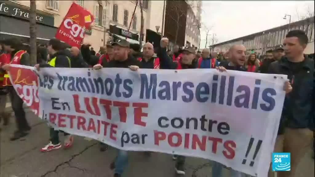 2020-01-24 13:32 Réforme des retraites  : Des cortèges de manifestants partout en France pour cette 7e journée