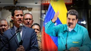 Un nuevo pulso entre la Asamblea Nacional dirigida por Juan Guaidó (izquierda) y la Constituyente, convocada por Nicolás Maduro (derecha), tuvo lugar este martes, 5 de febrero de 2019, en Caracas, Venezuela.