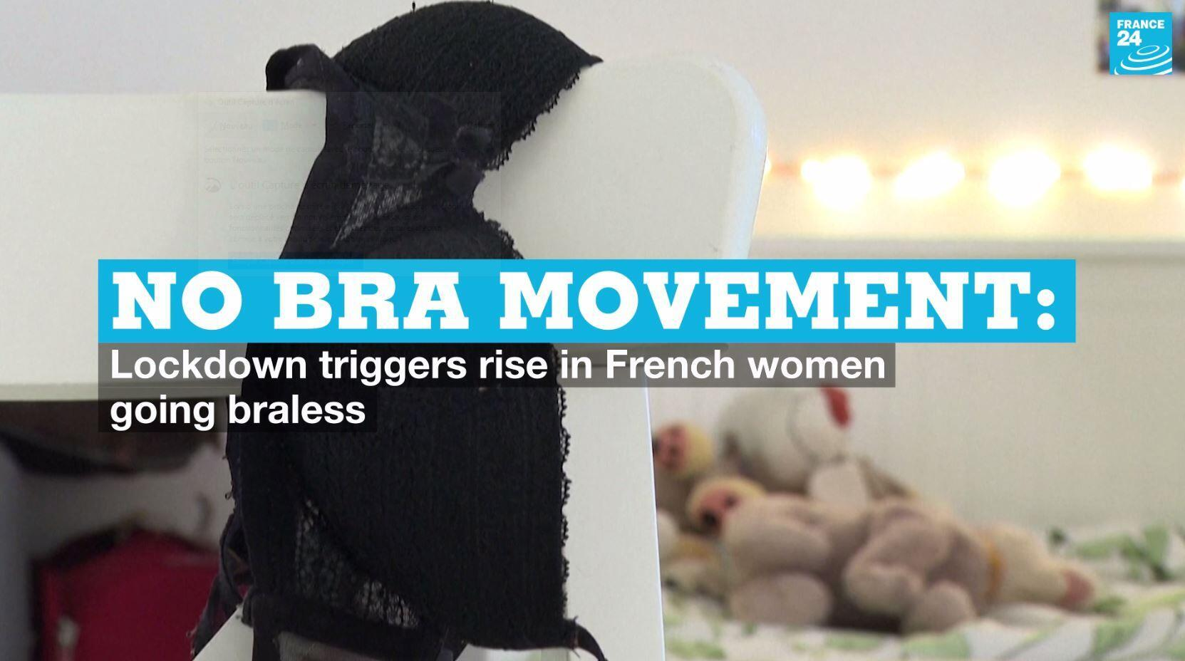A recent survey has found that a growing number of French women are choosing not to wear bras.