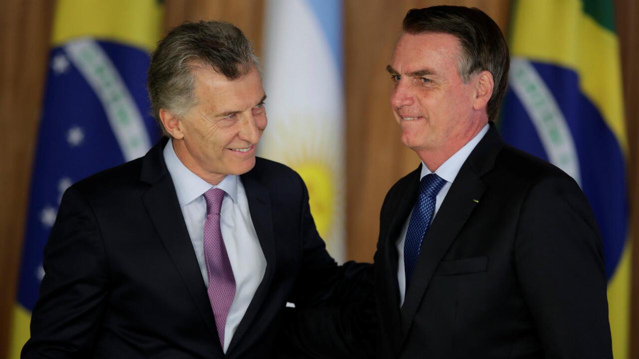El presidente argentino, Mauricio Macri, visitó a su homólogo brasileño, Jair Bolsonaro, en Brasilia el 16 de enero de 2019.