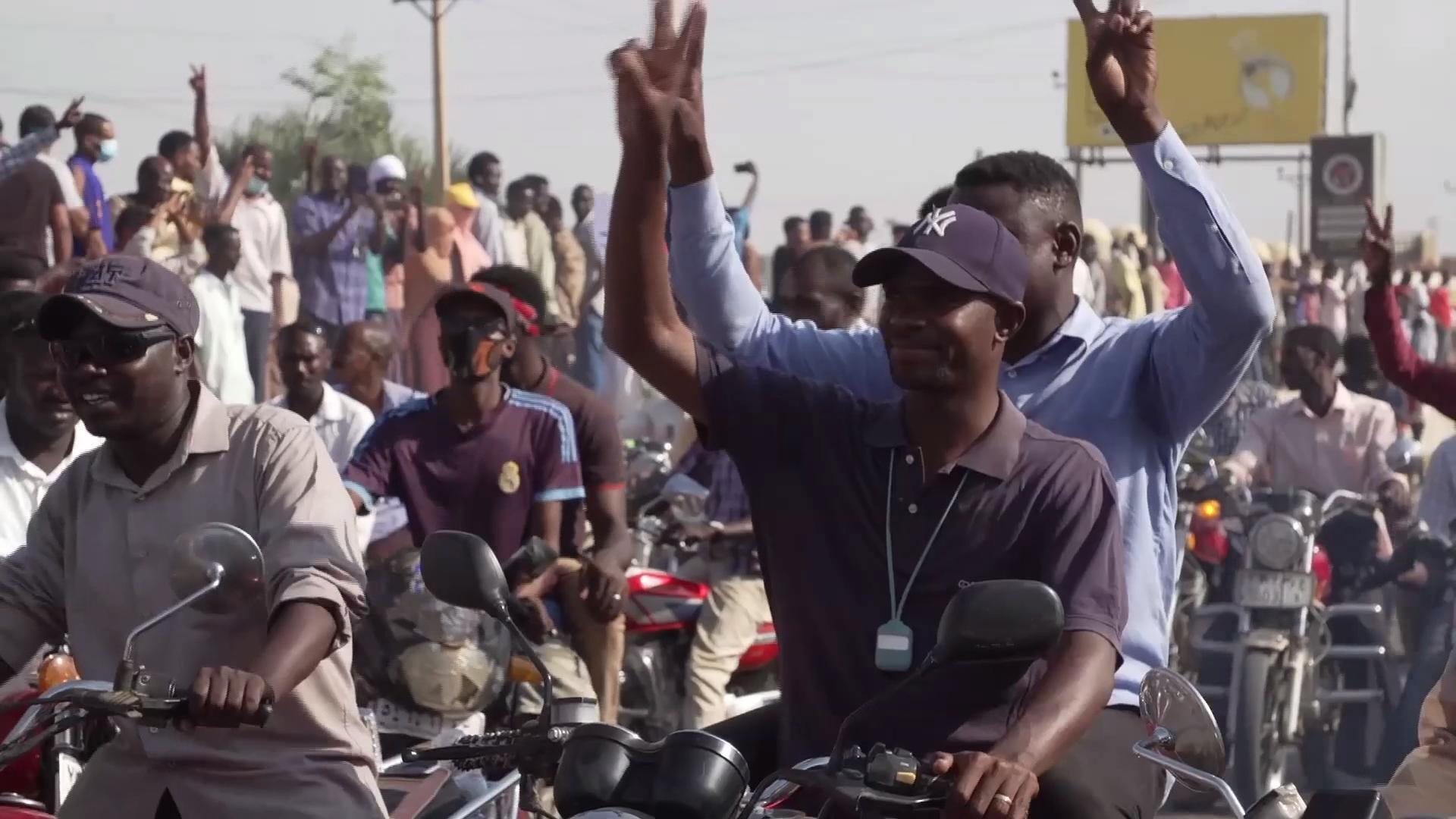 Mobilisation dans les rues de Khartoum au Soudan