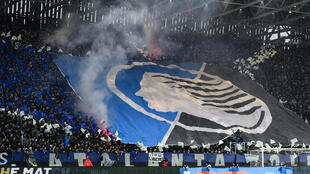 Atalanta fans before a match against Juventus on November 23 last year in Bergamo