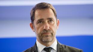 Le ministre de l'Intérieur, Christophe Castaner, lors d'une conférence de presse, le 17septembre2019 à Marseille.