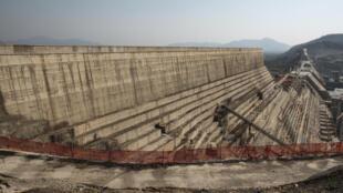 A general view of the Grand Ethiopian Renaissance Dam (GERD), near Guba in Ethiopia on December 26, 2019.