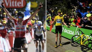 Thomas De Gendt a remporté la 12e étape du Tour de France 2016, Christopher Froome conserve son maillot jaune malgré un incident technique, le 14 juillet 2016.