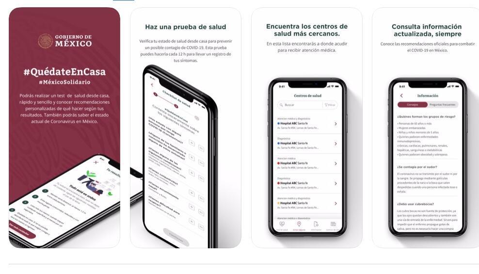Covid-19 MX, la app de autodiagnóstico creada por el gobierno mexicano.