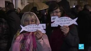 2019-12-14 15:05 Italy's 'Sardines' anti-fascist movement rose in december with rallies against the far right