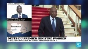"""2020-07-09 13:02 Adama Bictogo : """" Toutes les options sont sur la table """" pour la présidentielle ivoirienne"""