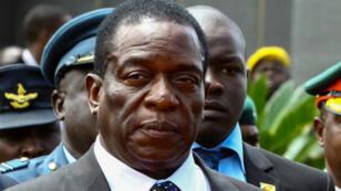 Emmerson Mnangagwa photographié en janvier 2017, à Harare.