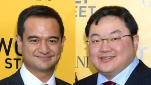 De gauche à droite : Riza Aziz et Jho Low, deux des personnalités malaisiennes mises en cause dans l'enquête américaine sur des détournements de fonds en Malaisie.