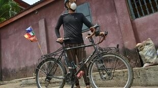World traveller: Raymond Lee and his trusty bicycle
