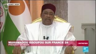 """2020-04-03 14:14 EXCLUSIF - Mahamadou Issoufou sur France 24 : """"Oui, le virus peut tuer des millions de personnes en Afrique"""""""