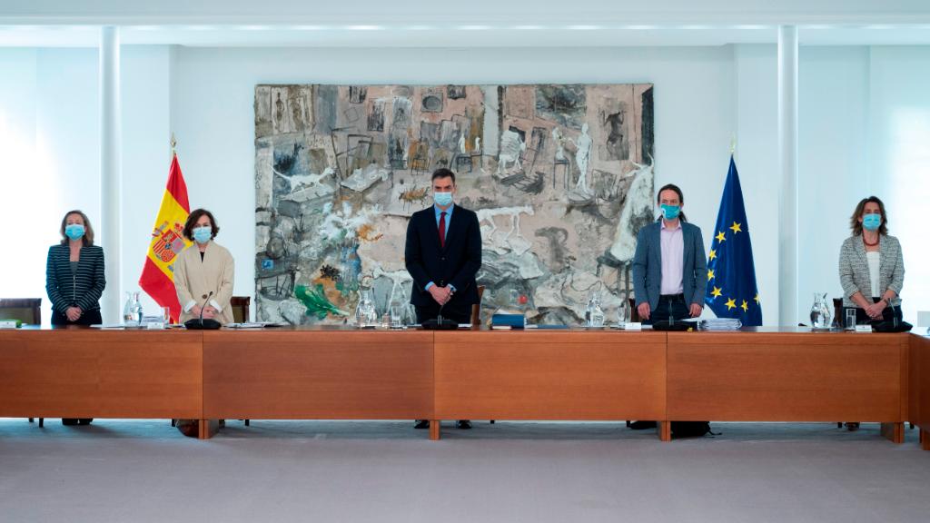 España celebró el primer Consejo de Ministros presencial desde que fue declarado el Estado de Alarma el 14 de marzo.