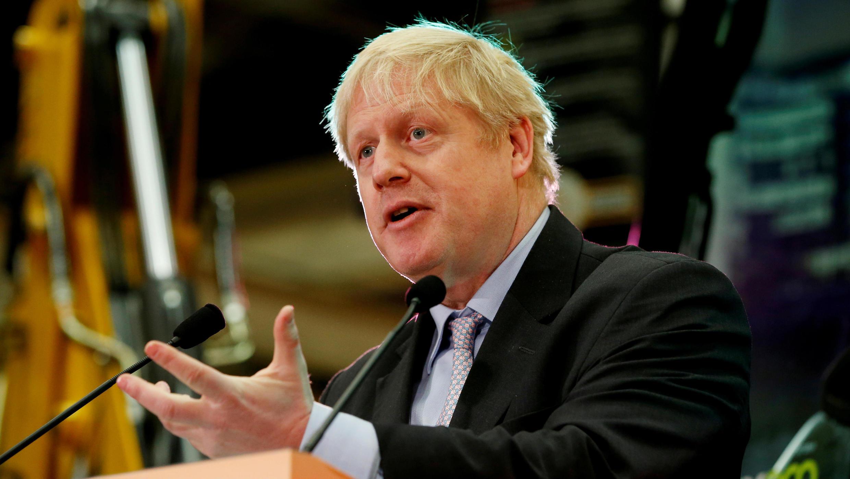 El exministro de Relaciones Exteriores, Boris Johnson, da un discurso en las oficinas de JCB en Rocester, el 18 de enero de 2019.