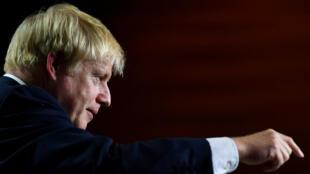 El primer ministro británico, Boris Johnson, da una rueda de prensa en el encuentro del G7 el pasado lunes 26 de agosto en Biarritz, Francia