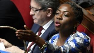 La députée LFI Danièle Obono à l'Assemblée, en avril 2018.
