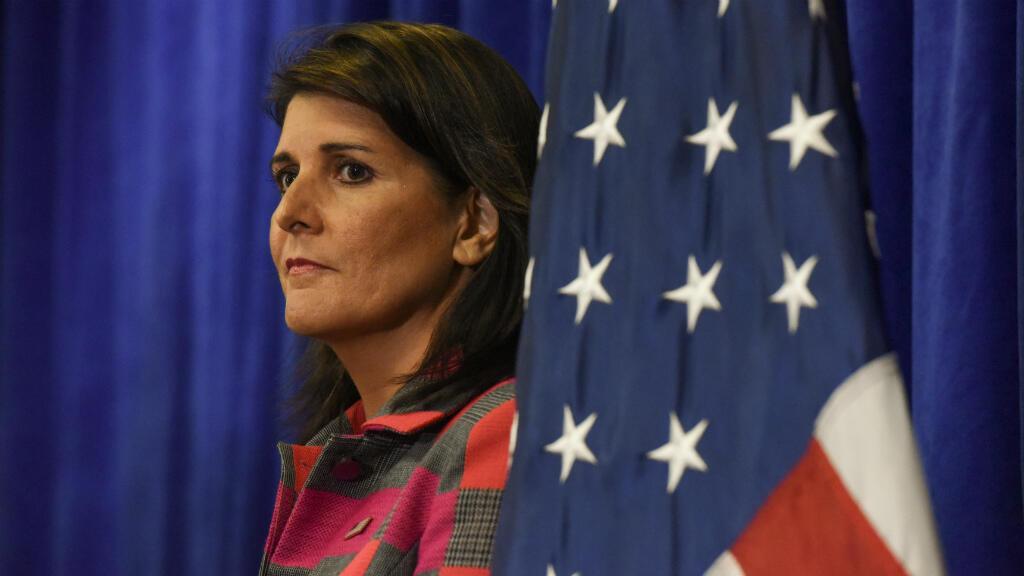 Nikki Haley lors d'une conférence de presse à New York, aux Nations unies, le 24 septembre 2018.
