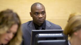 Germain Katanga lors de son procès à la Cour pénale internationale, le 23 mai 2014.