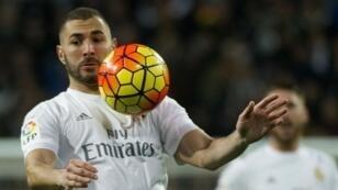 لاعب ريال مدريد كريم بنزيمة