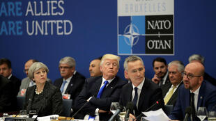 Esta foto de archivo fue tomada el 25 de mayo durante una reunión con algunos de los países miembros de la OTAN.