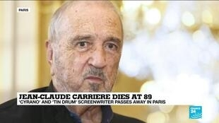 2021-02-09 13:10 'Cyrano' and 'Tin Drum' screenwriter Jean-Claude Carriere dies at 89