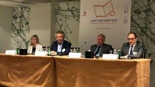 مؤتمر صحفي بحضور الكاتب إبراهيم نصرالله