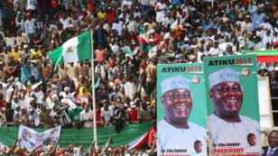Meeting du candidat à la présidentielle nigériane Atiku Abubakar à Kaduna, le 24 janvier 2019.