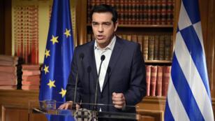 Alexis Tsipras a cité une note du FMI qui appelle à un nouveau plan d'aide avec un allègement du poids de la dette.