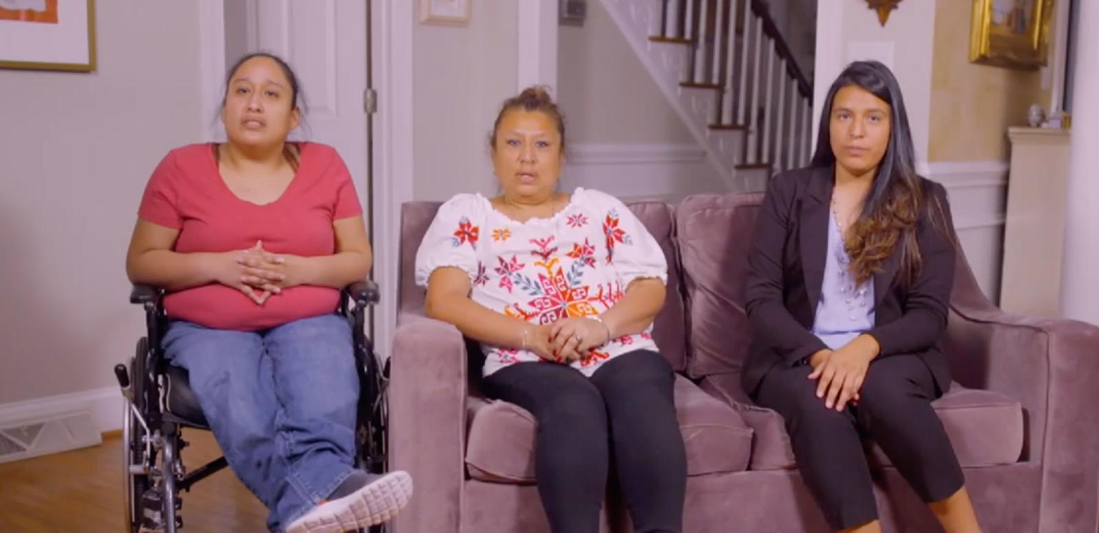 """El video de Jessica, Silvia y Lucy, proyectado en la tercera noche de la Convención Demócrata, recordó la difícil realidad de los """"dreamers"""" o migrantes que llegaron a Estados Unidos siendo menores de edad."""