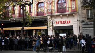 La salle de spectacle du Bataclan, à Paris, le 13 novembre 2017.