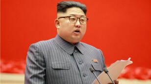 Discours du leader nord-coréen Kim Jong-Un, prononcé le 21 décembre 2017, à Pyongyang.