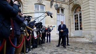 Le chef du parti Les Républicains Laurent Wauquiez après son entrevue le Premier ministre Édouard Philippe, le 3 décembre 2018.
