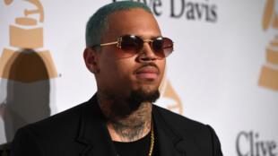 Le chanteur américain Chris Brown à Beverly Hills, en Californie.