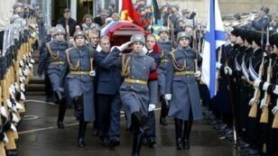 مراسم تشييع السفير الروسي في تركيا أندريه كارلوف