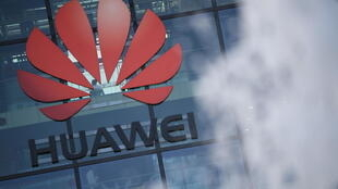 Logotipo de Huawei en Reading UK.