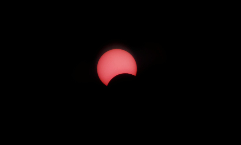Vue de l'éclipse solaire depuis le Caire en Egypte, le 21 juin 2020.