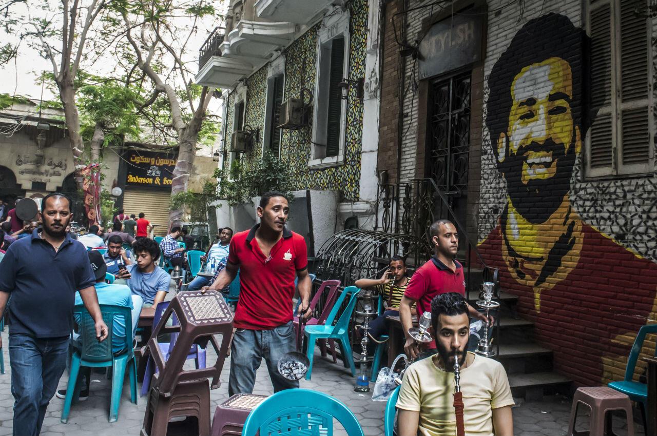 """Mohamed Salah est une légende au Caire et dans toute l'Égypte, où des fresques le représentent et où un café porte même son nom, le """"Mo Salah Cafe""""."""
